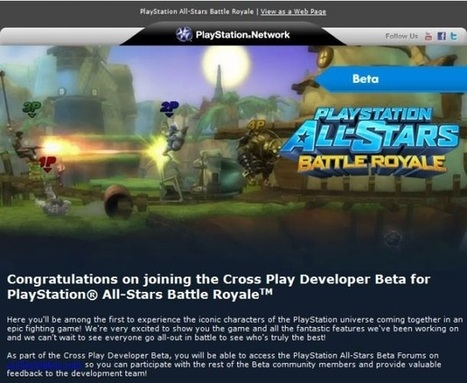 PlayStation All-Stars Battle Royale beta codes allegedly arriving on PS Vita - GameZone | Games on the Net | Scoop.it