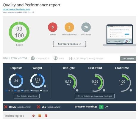 DareBoost - Analyse site web, test performance et qualité | Ressources techniques | Scoop.it