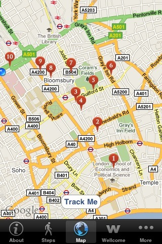 A free, multimedia walking tour IPhone app from Wellcome Collection & City Stories Walks   FADWEBSITE   Locative Media   Scoop.it