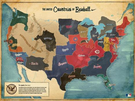 The United Countries of Baseball Map | Geography Education | Scoop.it
