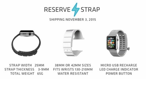 Un bracelet qui offre 30 h d'autonomie en plus à l'Apple Watch | Geeks | Scoop.it