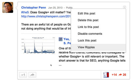 How To Use Google+ Ripples to Identify Influencers | Social Media Strategist | Scoop.it