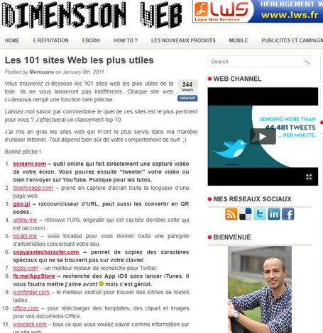Les 101 sites Web les plus utiles | [Dimension Web] | Veiller pour projeter | Scoop.it