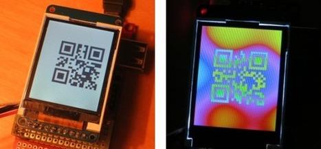 LCD-based QR clock | Using QR Codes | Scoop.it
