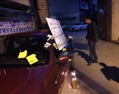 Chinese Man Builds Shrine to Curse Person Who Smashed His Car Window | Strange days indeed... | Scoop.it