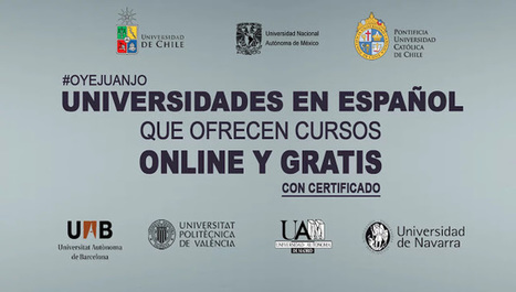 Universidades en español que dictan cursos online gratis (con certificado) | Social Media | Scoop.it