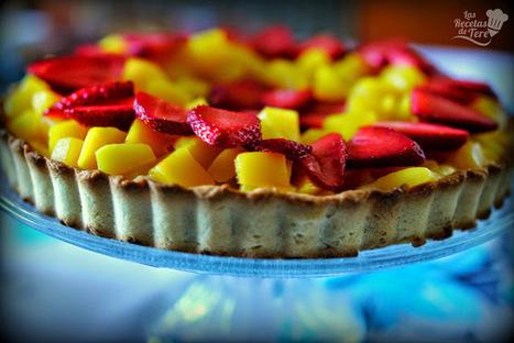 Tartaleta de mango y fresas. :>Las recetas de Tere;; | recipes, recetas, coocking, cocinar | Scoop.it