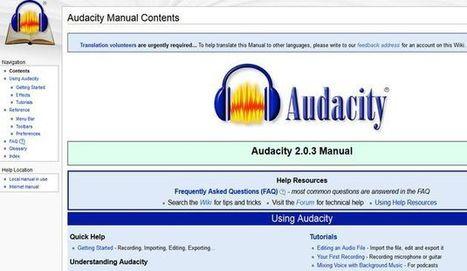 Completo y detallado manual de Audacity | Notícias TICXEDU | Scoop.it