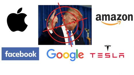 Pourquoi Apple, Google, Facebook et Tesla veulent la peau de Trump | Creative technologie | Scoop.it