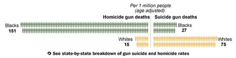 Gun deaths shaped by race in America | gov & law current events | Scoop.it