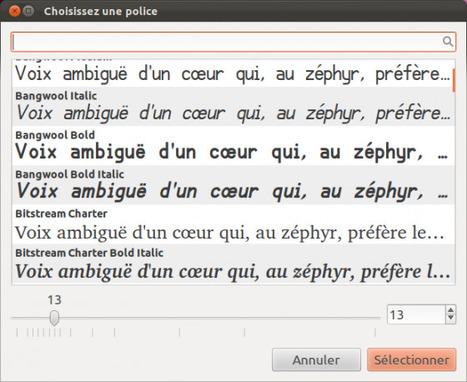 La fenêtre de choix des polices sous Ubuntu 11.10 est devenue Wysiwyg et c'est beau | Actualités de l'open source | Scoop.it