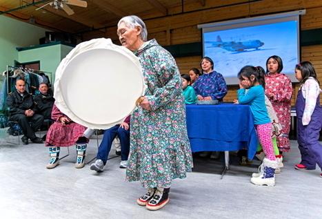 Photo: Drum dancing for Jim Balsillie in Cambridge Bay | Nunatsiaq Online | Kiosque du monde : Amériques | Scoop.it