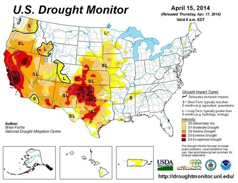 The drought hitting 40 percent of the entire country, in 5 maps | Food issues | Scoop.it