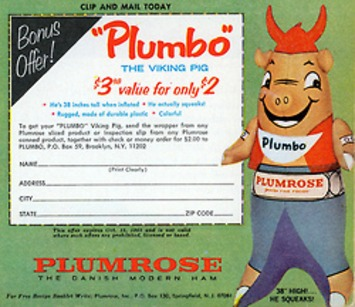 """Plumbo"" Inflatable Viking Pig 