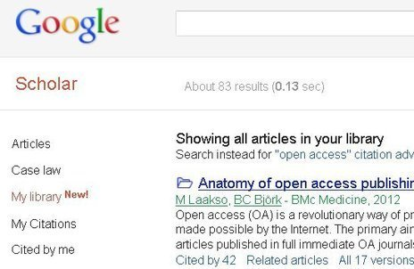 Google investeert in Google Scholar met MyLibrary optie | Search Smarter with Google : news, comparisons, whatever | Scoop.it