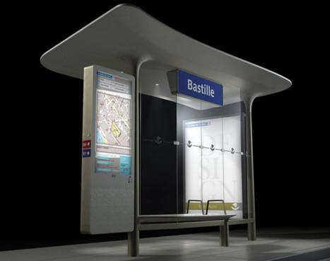 JC Decaux va équiper 100 abris-bus connectés d'écrans tactiles à Paris | Technic-project | Scoop.it