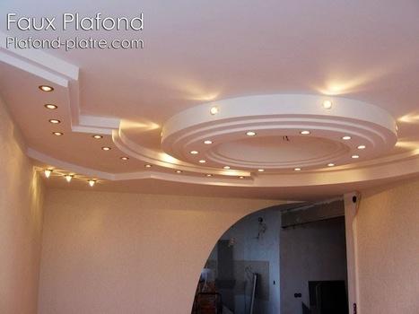 Revêtement Faux plafond plâtre | Faux Plafond Platre suspendu et tendu | Faux plafond en forme d'un papillon | Scoop.it