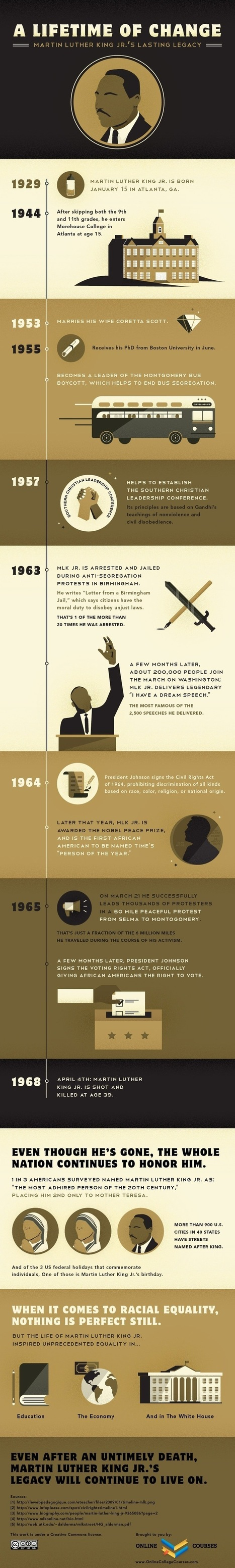 Infographic | A Lifetime of Change: Martin Luther King Jr.'s Lasting Legacy | World Political Leaders | Scoop.it