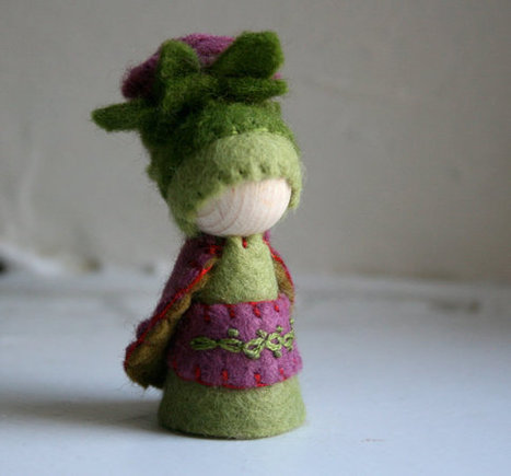 Rose Flower Fairy, peg doll gnome, Spring | fashion pants | Scoop.it