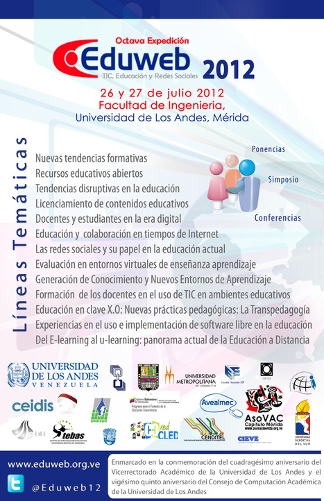 Afiche oficial Eduweb 2012 | Tech4LTeachers | Scoop.it