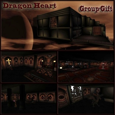 Dreamer's Virtual World: FREE Fully Furnished Dragon Heart Skybox | Second Life Findings | Scoop.it