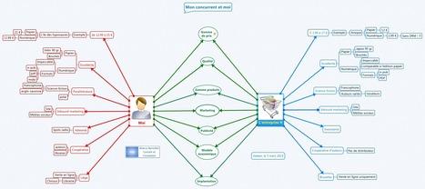 Mindmapping et entreprise : double-bulle étude de la concurrence | Cartes mentales et heuristiques | Scoop.it