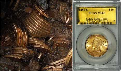 The Saddle Ridge Hoard - is the largest known discovery of buried gold coins that has ever been recovered in the US. | DiverSync | Scoop.it