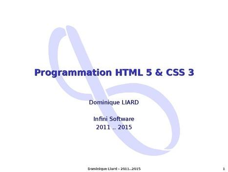 Programmation HTML 5 & CSS 3   CSS3 et HTML5   Scoop.it