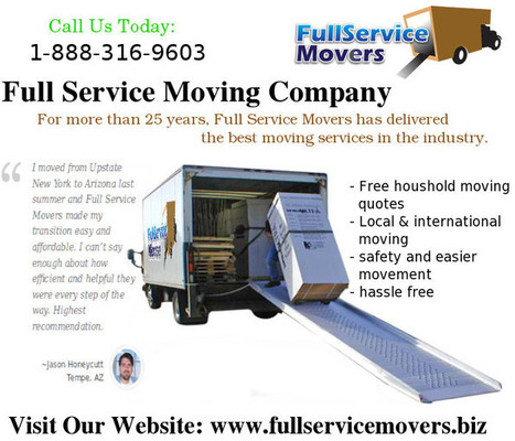 Instant Estimation of Cost for Full Service Moving Companies | fullservicemovers | Scoop.it