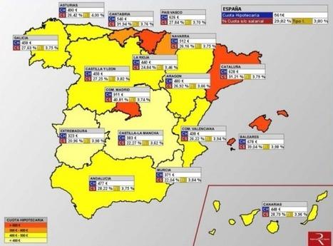 Atlas hipotecario de España: si vives en Madrid pagarás más y durante más años tu hipoteca | PROYECTO ESPACIOS | Scoop.it