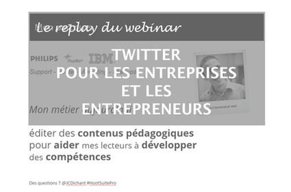 Twitter pour les entrepreneurs et entreprises, la vidéo ! | Médias sociaux & web marketing | Scoop.it