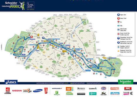 Marathon de Paris - La course - Parcours - La carte | Le sport en milieu urbain | Scoop.it