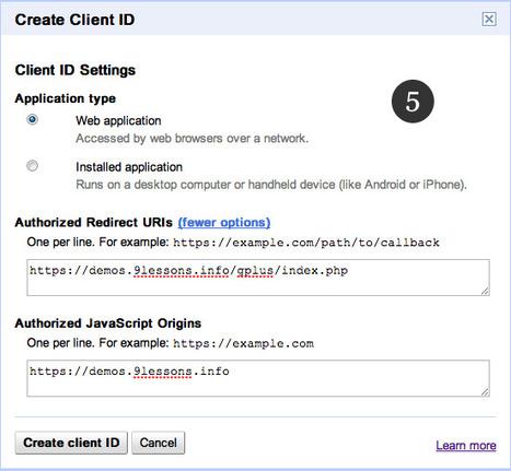 Login with Google Plus OAuth. | Développement Web (PHP5, Jquery, HTML5, CSS, Codeigniter, Concrete 5,...) | Scoop.it