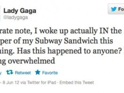 Lady Gaga woke up in a Subway sandwich wrapper // Current TV | GAGA | Scoop.