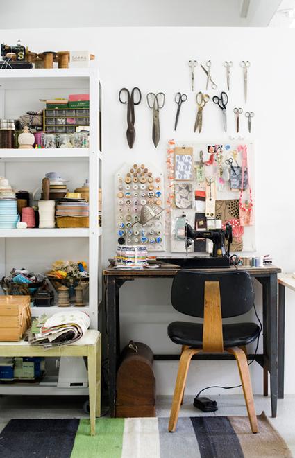 { Visite déco } L'atelier-boutique de la designer textile Lotta Jansdotter | décoration & déco | Scoop.it