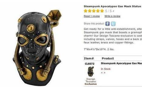 Ukrainian steampunk mask-maker gets plagiarized by Skymall stalwarts Design Toscano | Steampunkerie | Scoop.it