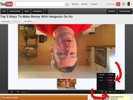 How To Watch YouTube Videos At Double Speed – Google Plus For Business | Fotomarketing | Scoop.it
