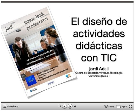 """Crea y aprende con Laura: """"El diseño de actividades didácticas con TIC"""" de Jordi Adell   Las TIC y la Educación   Scoop.it"""