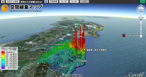 Google Earth API Sample | Mapping & participating: Fukushima radiation maps | Scoop.it