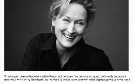 """I no longer have patience..."".  POWERFUL  viral quote - but not by Meryl Streep. 