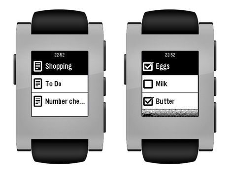 Now Access Checklists, Notes and More on Your Pebble Smartwatch Using Evernote | Tech News N Updates | Scoop.it