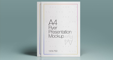 A4 Psd Flyer Mock-Up | Psd Mock Up Templates | Pixeden | freebies | Scoop.it