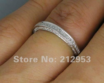 Jewelry Sets Vintage Solid 14Kt White Gold 0.56Ct Natural Diamond Wedding Band Ring | Online Marketing Tips | Scoop.it