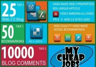 I will build MANUAL link wheel on 25 web2 + 50 bookmarks + 10000 tier2 blog comments for $20 : FollowMe - My Cheap Jobs   SEO   Scoop.it