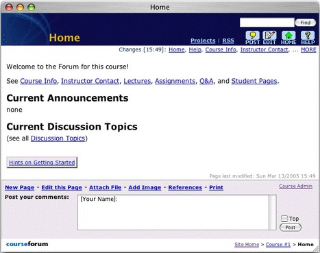 Getting Started with CourseForum | New Web 2.0 tools for education | Scoop.it