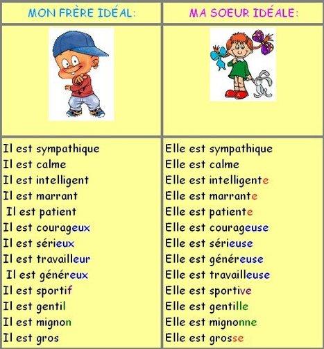 Les adjectifs qualificatifs: Féminin et masculin. Partie II | Français Langue Étrangére FLE | Scoop.it