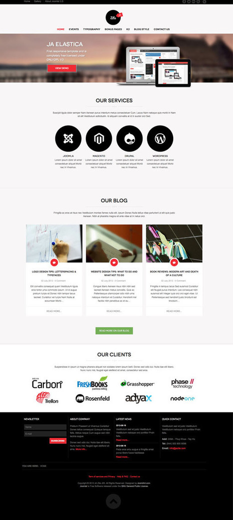 JA Zite Responsive Joomla 2.5 Template | web desain | Scoop.it