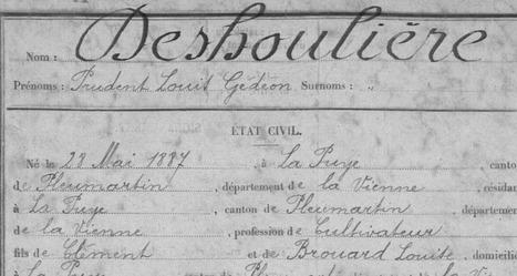 La famille Deshoulière dans la Grande Guerre. - Généablogique | GenealoNet | Scoop.it