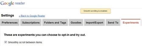 Smooth Scrolling in Google Reader | Google Sphere | Scoop.it
