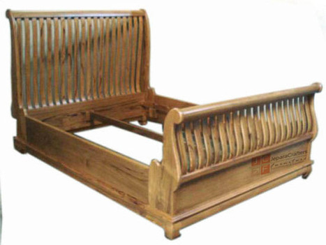 Teak wood bedroom furniture Sleigh bed Antique Classic Indonesia Furniture, View Sleigh Beds Furniture, TEAK SLEIGH BED JARI Product Details from CV. JEPARA CRAFTER FURNITURE on Alibaba.com | Teak wood furniture | Scoop.it